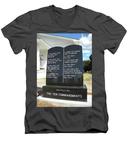The Ten Commandments Men's V-Neck T-Shirt