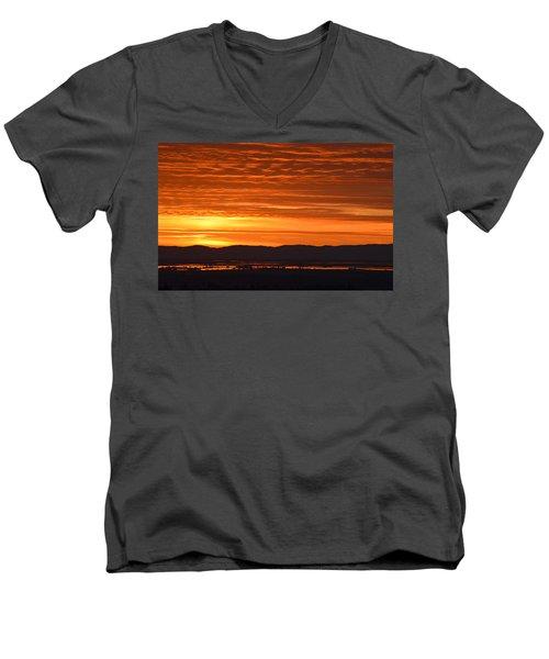 The Textured Sky Men's V-Neck T-Shirt