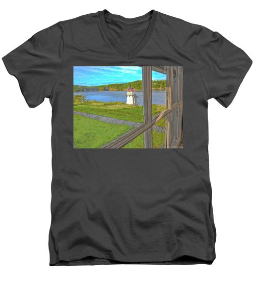 The Thin Line Between Real And Imagined Men's V-Neck T-Shirt