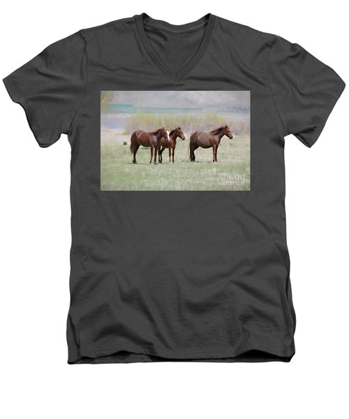 Men's V-Neck T-Shirt featuring the photograph The Three Amigos by Benanne Stiens