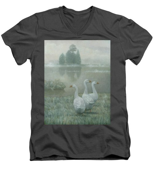 The Three Geese Men's V-Neck T-Shirt