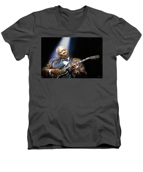 The Thrill Is Gone Men's V-Neck T-Shirt by Peter Chilelli