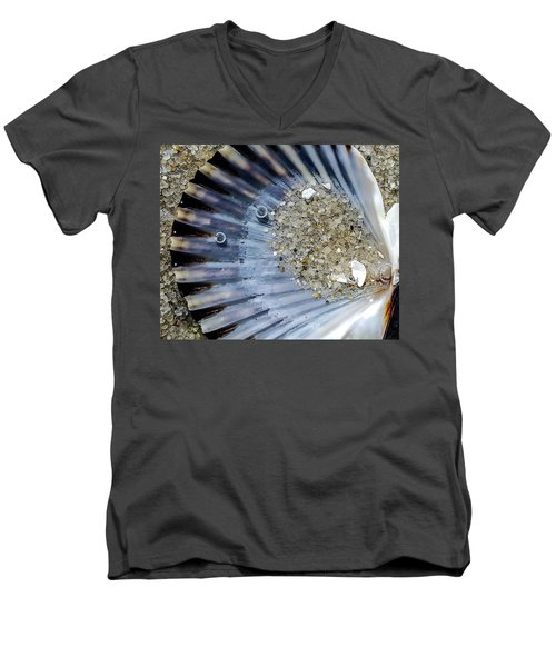 Men's V-Neck T-Shirt featuring the photograph The Tides Edge by Bruce Carpenter
