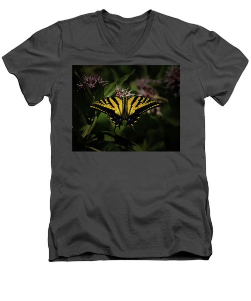 The Tiger Swallowtail Men's V-Neck T-Shirt by Ernie Echols