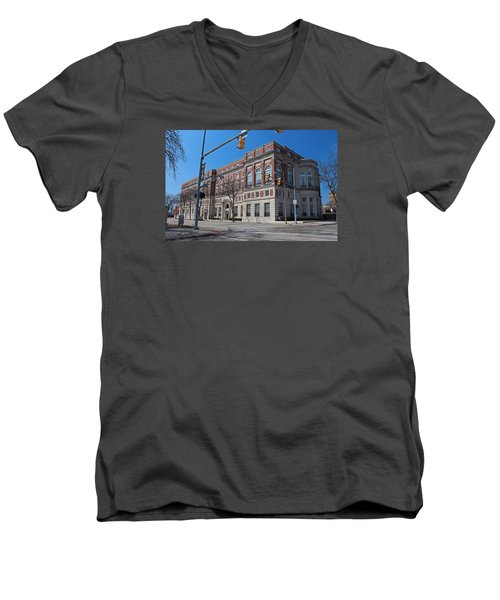Men's V-Neck T-Shirt featuring the photograph The Toledo Club by Michiale Schneider