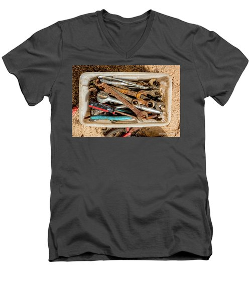 Men's V-Neck T-Shirt featuring the photograph The Toolbox by Christopher Holmes