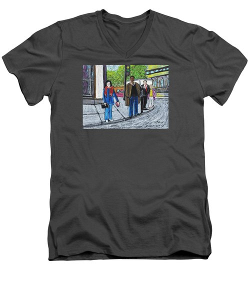 The Tourist Men's V-Neck T-Shirt by Reb Frost