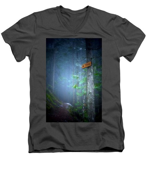 Men's V-Neck T-Shirt featuring the photograph The Trail by Tara Turner