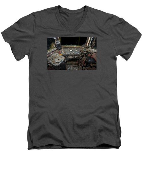 The Tram Leaves The Station... Instruments Men's V-Neck T-Shirt