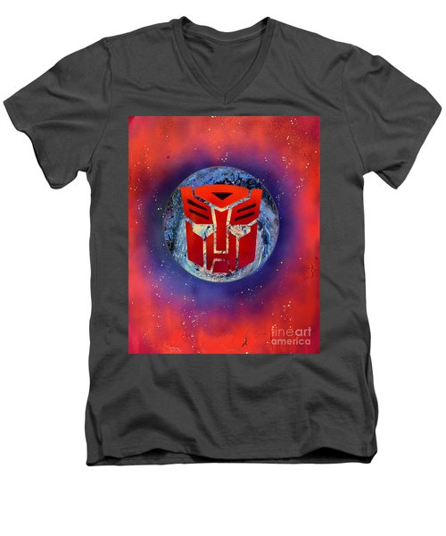 The Transformers Men's V-Neck T-Shirt by Justin Moore
