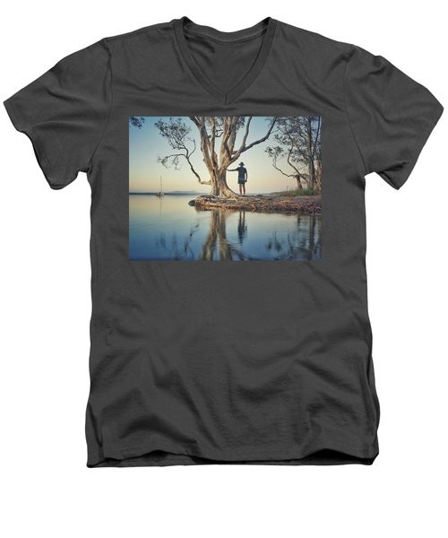 The Tree And Me Men's V-Neck T-Shirt