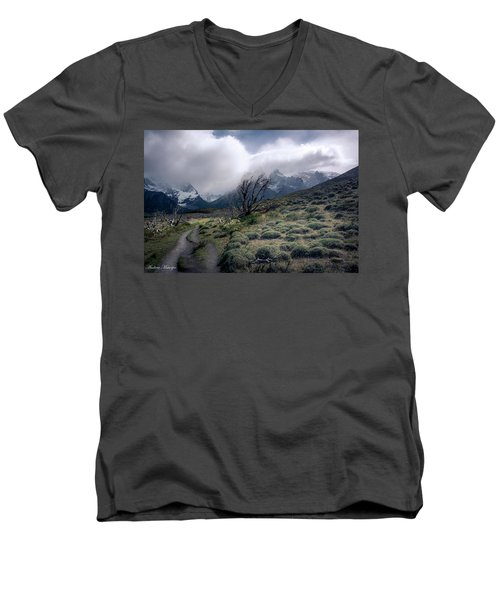 The Tree In The Wind Men's V-Neck T-Shirt by Andrew Matwijec