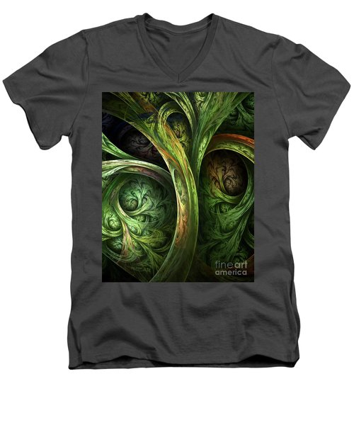The Tree Of Life Men's V-Neck T-Shirt by Olga Hamilton