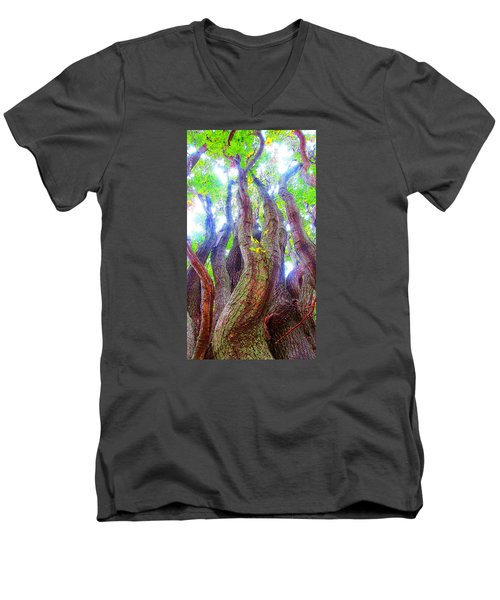 The Tree Of Salem Men's V-Neck T-Shirt by Patricia Arroyo