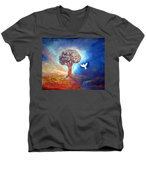 The Tree Men's V-Neck T-Shirt by Winsome Gunning