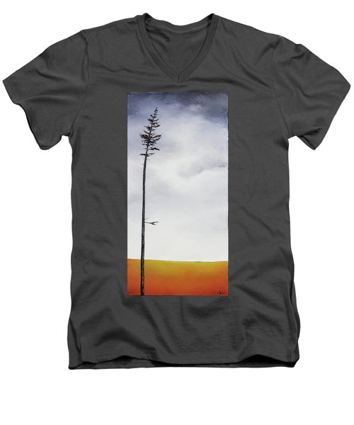 The Trees Are So Tall Here  II     Men's V-Neck T-Shirt by Carolyn Doe