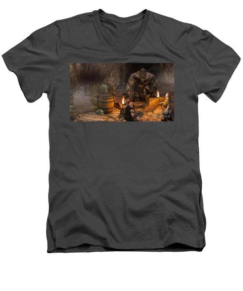 The Trolls Of Black Water Deep Men's V-Neck T-Shirt