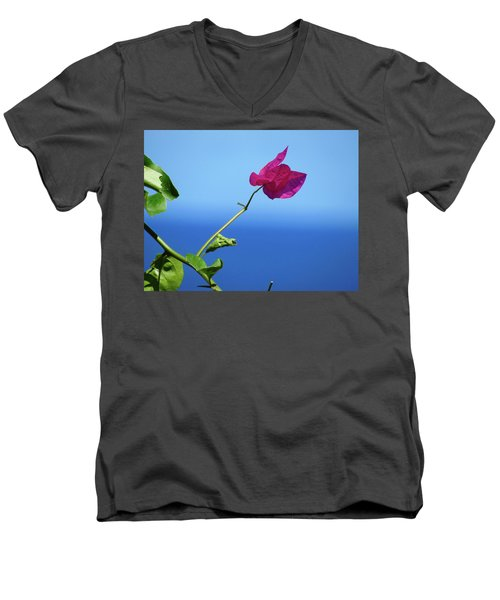The Tropical Bloom Men's V-Neck T-Shirt