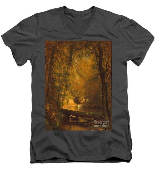 The Trout Pool Men's V-Neck T-Shirt by John Stephens