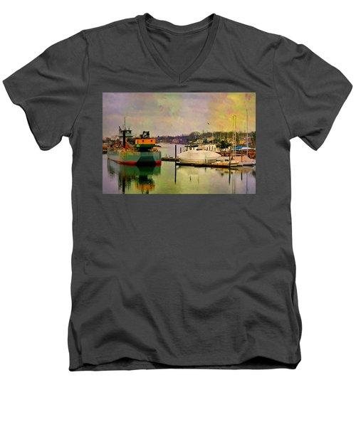 The Tug Boat Men's V-Neck T-Shirt