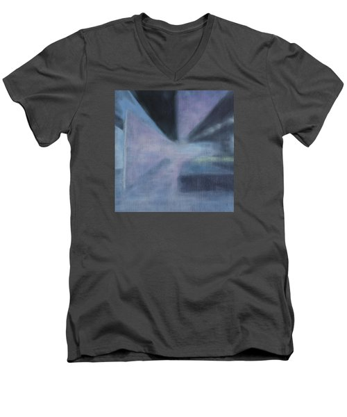 Men's V-Neck T-Shirt featuring the painting The Ultimate Art Is How To Be A Human by Min Zou