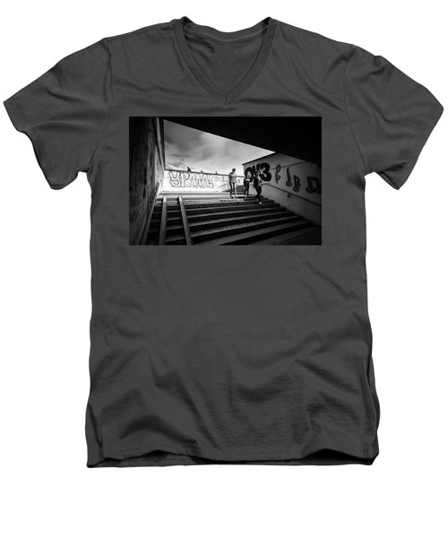 The Underpass Men's V-Neck T-Shirt by John Williams