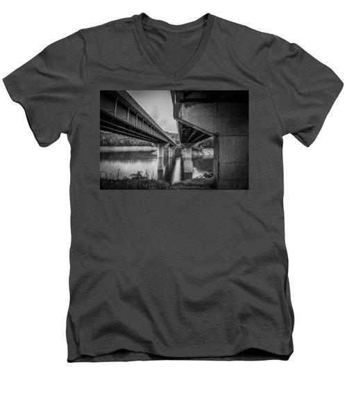 The Underside Of Two Bridges Men's V-Neck T-Shirt