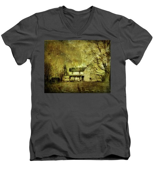 Men's V-Neck T-Shirt featuring the photograph The Uninvited by Mark Allen