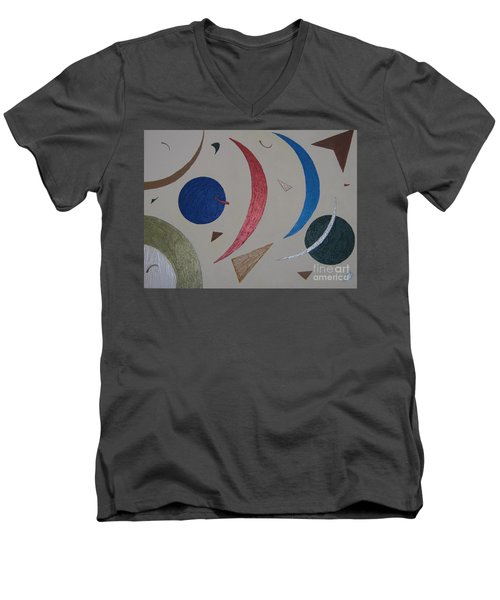 The Universe Men's V-Neck T-Shirt by Barbara Yearty