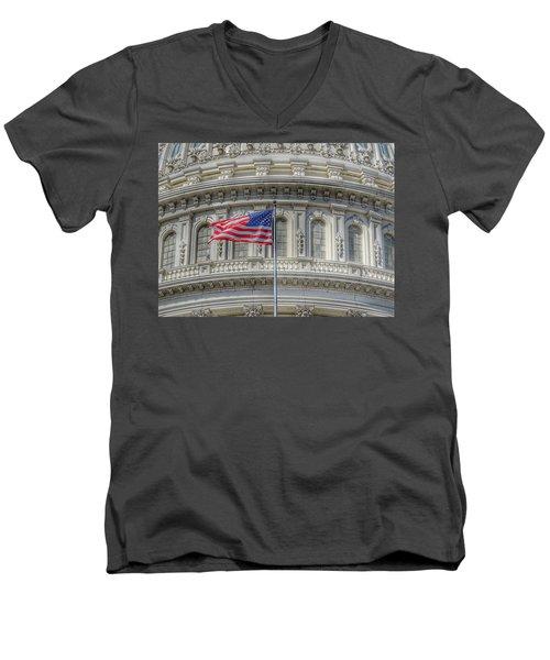 The Us Capitol Building - Washington D.c. Men's V-Neck T-Shirt