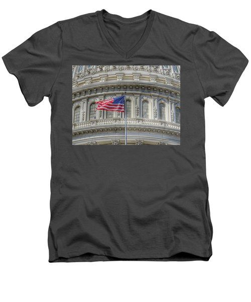 The Us Capitol Building - Washington D.c. Men's V-Neck T-Shirt