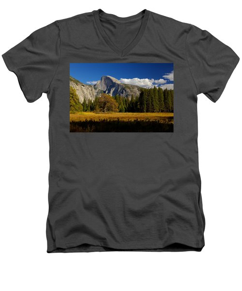 Men's V-Neck T-Shirt featuring the photograph The Valley by Evgeny Vasenev