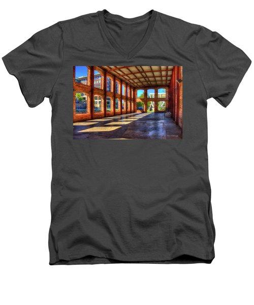 The Venue Old Mill Wedding Venue Reedy River South Caroline Art Men's V-Neck T-Shirt by Reid Callaway