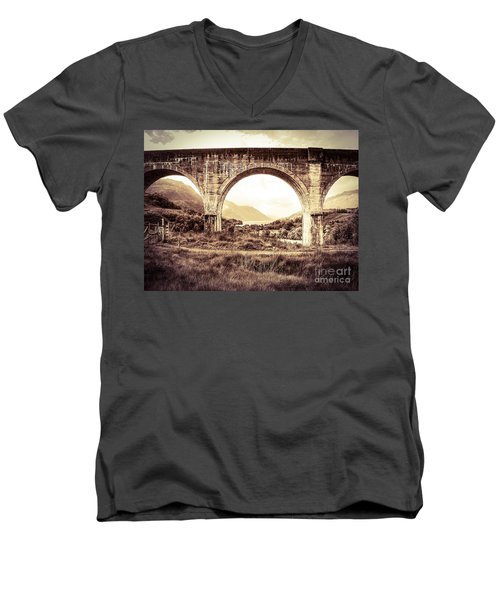 The Viaduct And The Loch Men's V-Neck T-Shirt