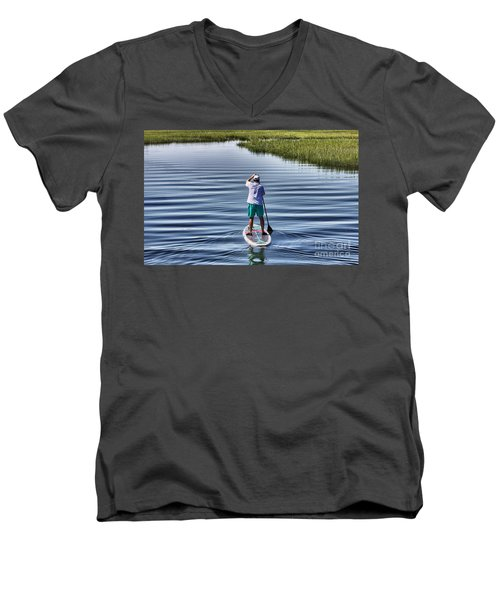 The View From A Bridge Men's V-Neck T-Shirt