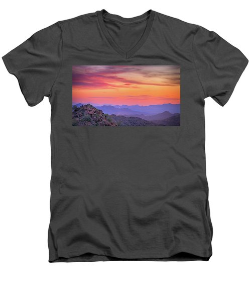 The View From Above Men's V-Neck T-Shirt by Anthony Citro