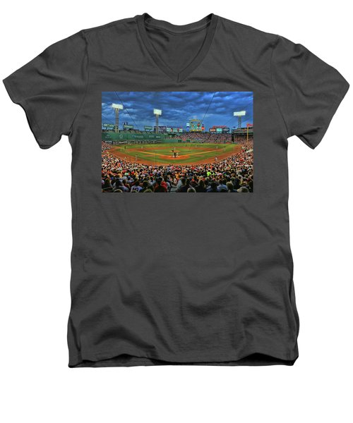 The View From Behind Home Plate - Fenway Park Men's V-Neck T-Shirt