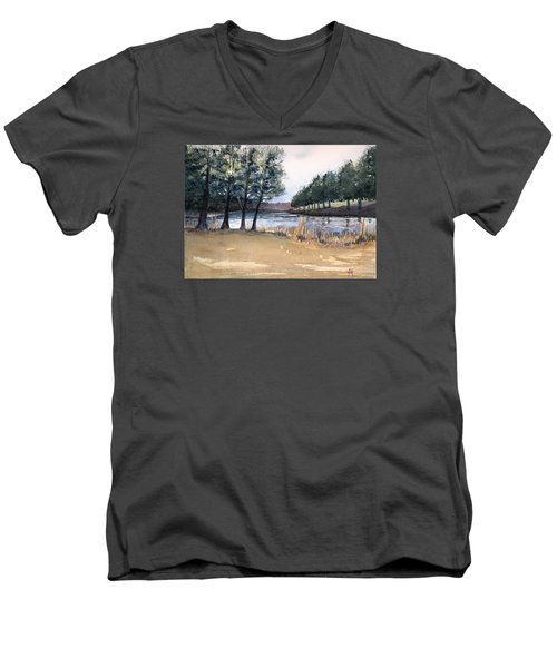 The View From Switchboard Men's V-Neck T-Shirt by Katherine Miller