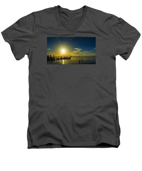 The View Men's V-Neck T-Shirt by Kevin Cable