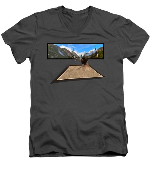 Men's V-Neck T-Shirt featuring the photograph The View by Shane Bechler