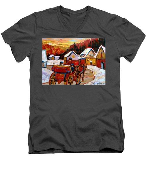 The Village Of Saint Jerome Men's V-Neck T-Shirt