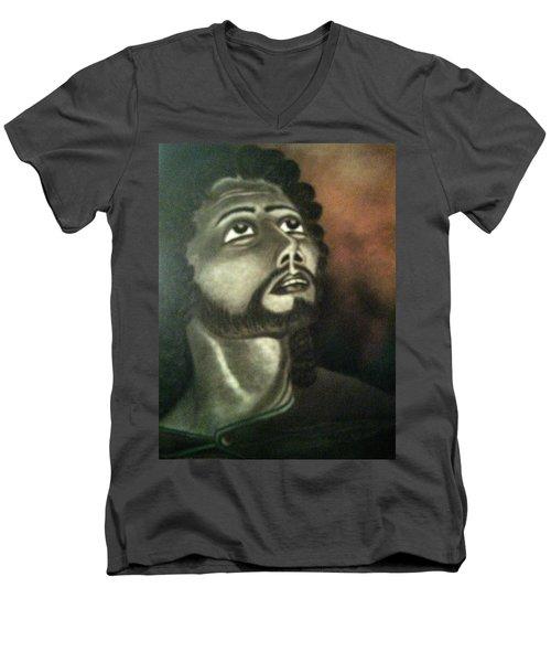 The Vision Of St. Christopher Men's V-Neck T-Shirt