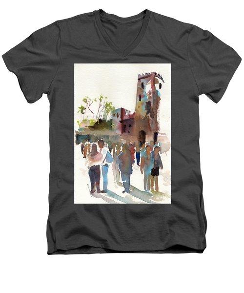 The Visitors Men's V-Neck T-Shirt by P Anthony Visco