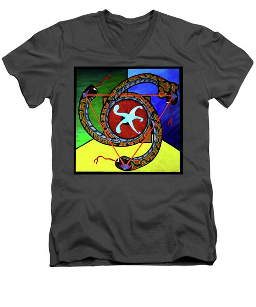 The Vitruvian Serpent Men's V-Neck T-Shirt