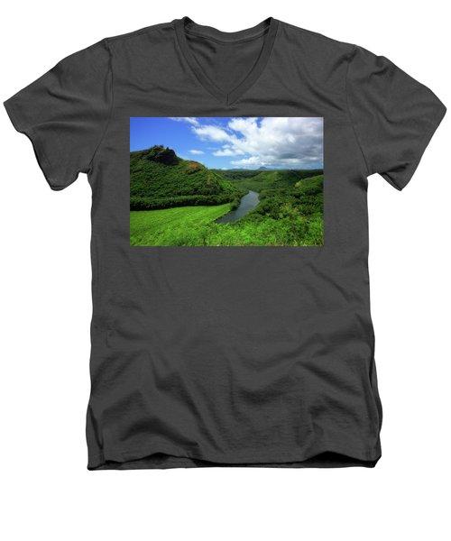 The Wailua River Men's V-Neck T-Shirt