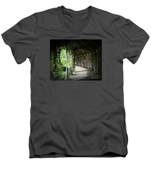 Men's V-Neck T-Shirt featuring the photograph The Walkway by Lisa L Silva