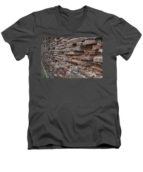 The Wall Men's V-Neck T-Shirt by Cendrine Marrouat