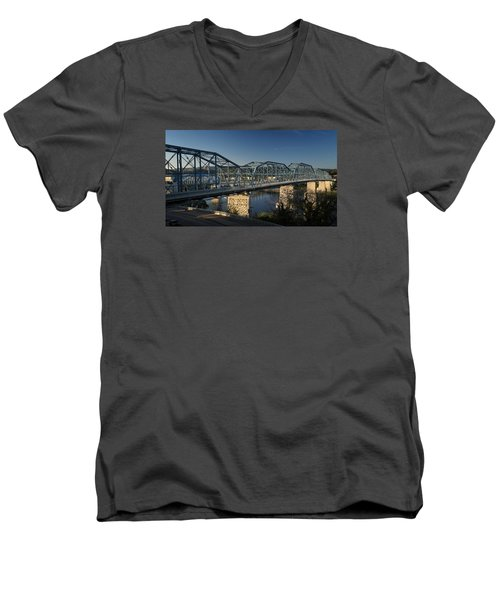 The Walnut St. Bridge Men's V-Neck T-Shirt