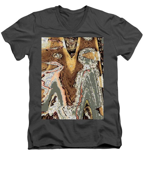The Wanderers Men's V-Neck T-Shirt by David Hansen