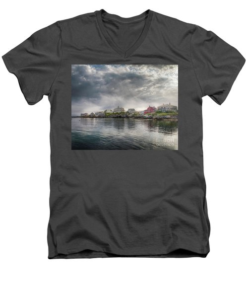 The Warf Men's V-Neck T-Shirt by Tom Cameron